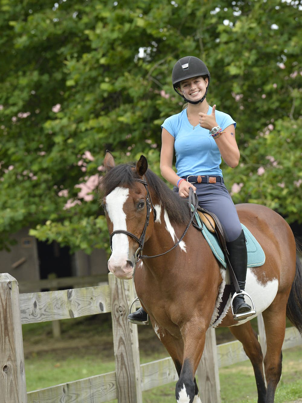 Horseback riding, gardening, and puppies at summer camp