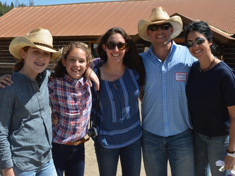 Family visiting at final rodeo.jpg?ixlib=rails 2.1