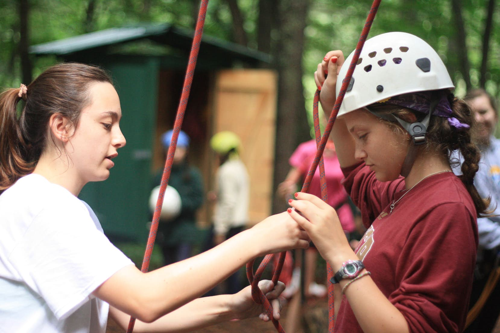 Summer Camp Jobs, for counselors at our girls adventure camp