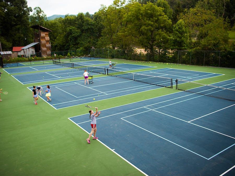 Tennis and badminton at keystone camp for girls.jpg?ixlib=rails 2.1
