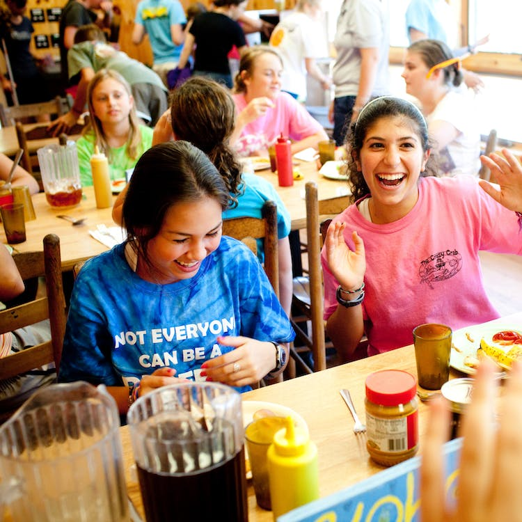 Lunch time at keystone summer camp for girls in north carolina.jpg?ixlib=rails 2.1