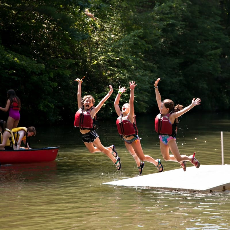 Jumping in at keystone summer camp for girls in brevard north carolina.jpg?ixlib=rails 2.1