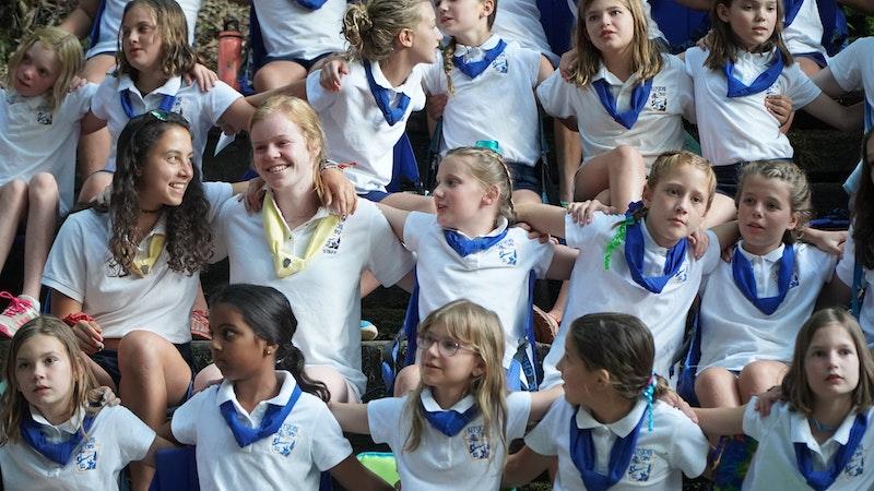 Keystone Camp's all girl community.