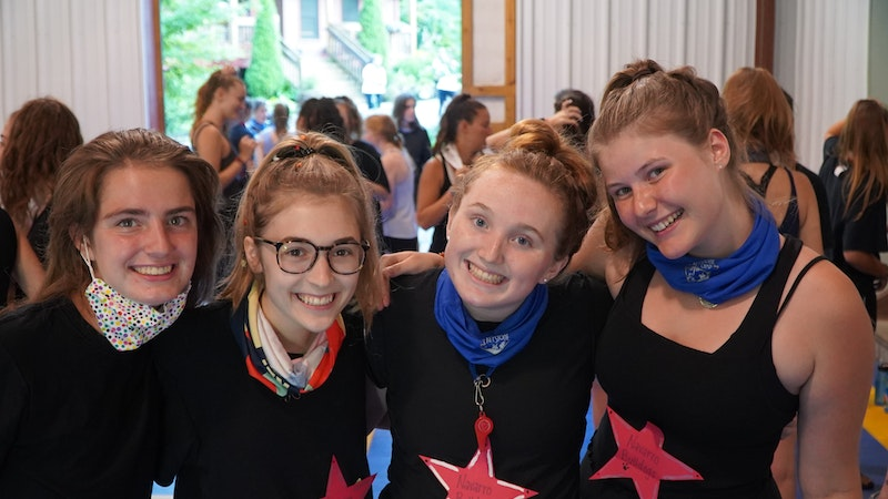 Girls learn new things at camp