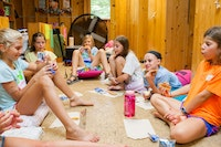 Pizza in a cabin at highlander coed summer camp in north carolina.jpg?ixlib=rails 2.1