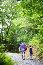 Father son walking at highlander coed summer camp in north carolina.jpg?ixlib=rails 2.1