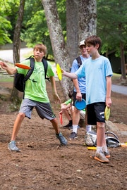 Disc golf at highlander summer camp for boys and girls in north carolina.jpg?ixlib=rails 2.1