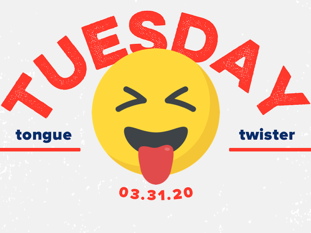 Tongue Twister Day: 2018
