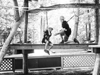 Boy on a zipline