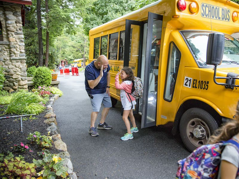 Day Camp Transportation, Elmwood has Door to Door Bus Service